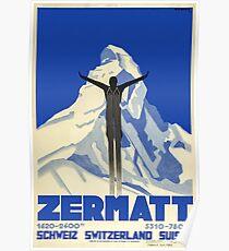 Zermatt, Switzerland,Ski Poster Poster