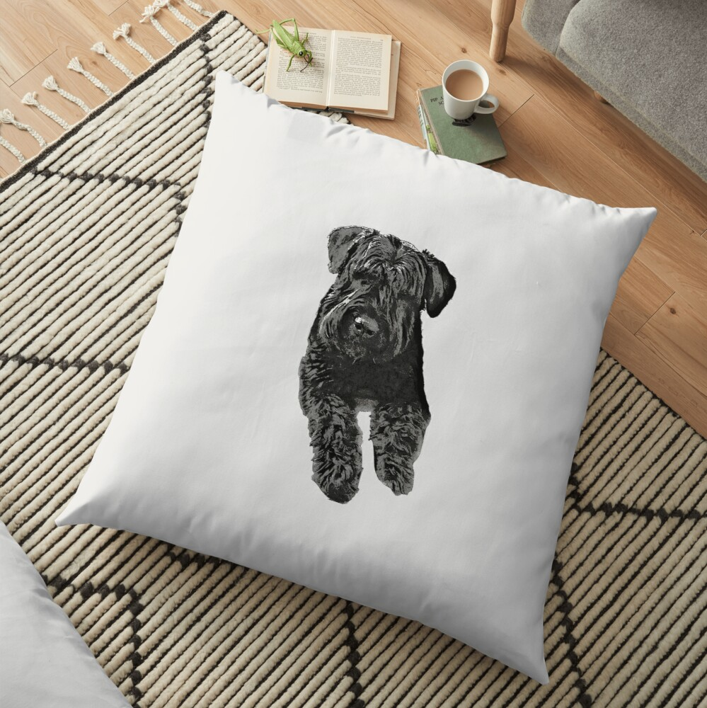 Bouvier Des Flandres Floor Pillow By Claireandrewss Redbubble