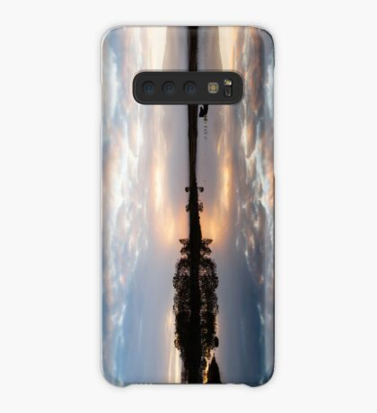 Pink and Blue Misty Sunrise Reflected in Loch Ba Case/Skin for Samsung Galaxy