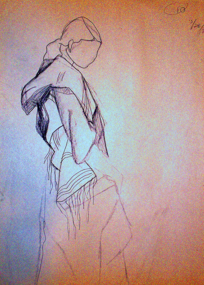 CLOTHED FIGUR DRAWING 10 by Tammera