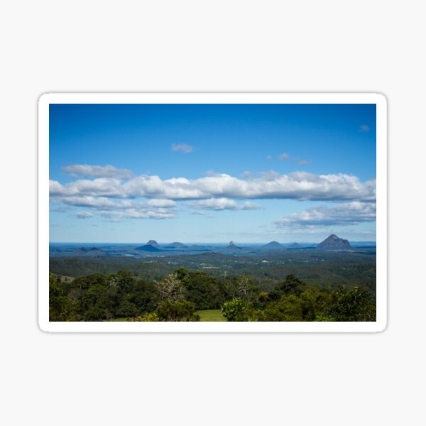Glasshouse Mountains. QLD Sticker