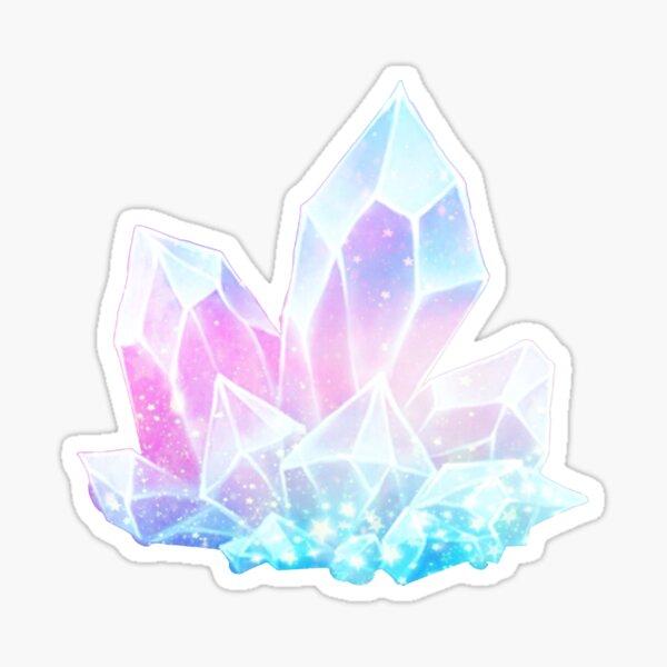 Pastel Galaxy Crystals Sticker
