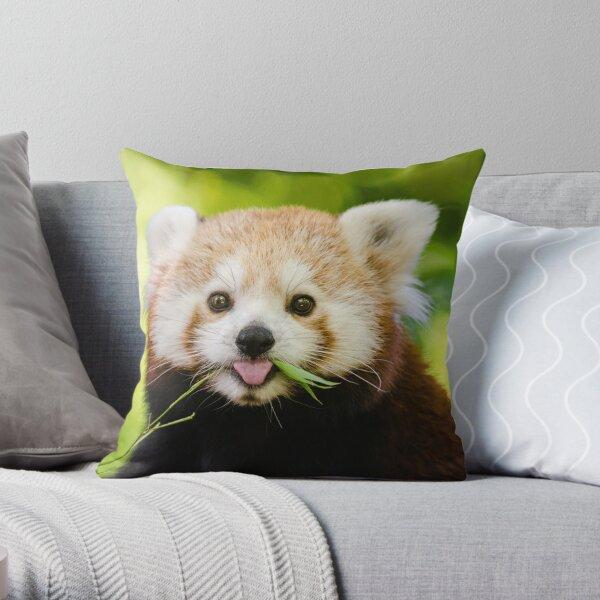 Cute Cuddly Red Panda Throw Pillow