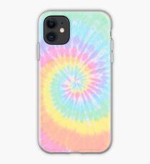 Rainbow tie dye iPhone Case