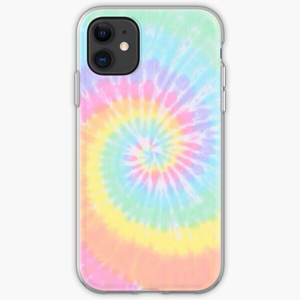 Rainbow tie dye iPhone Soft Case