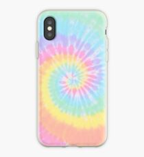 Rainbow tie dye iPhone Case
