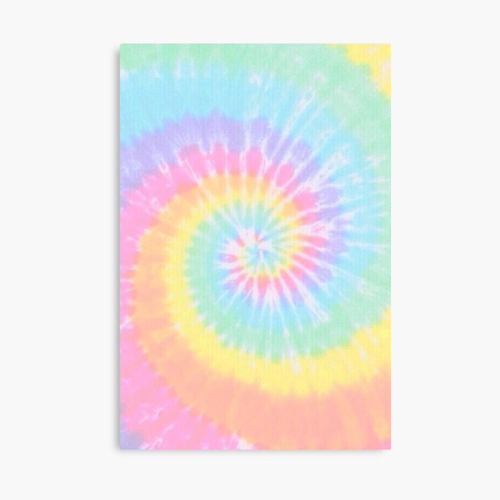 Rainbow tie dye Canvas Print