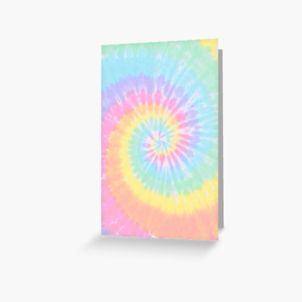 Rainbow tie dye Greeting Card