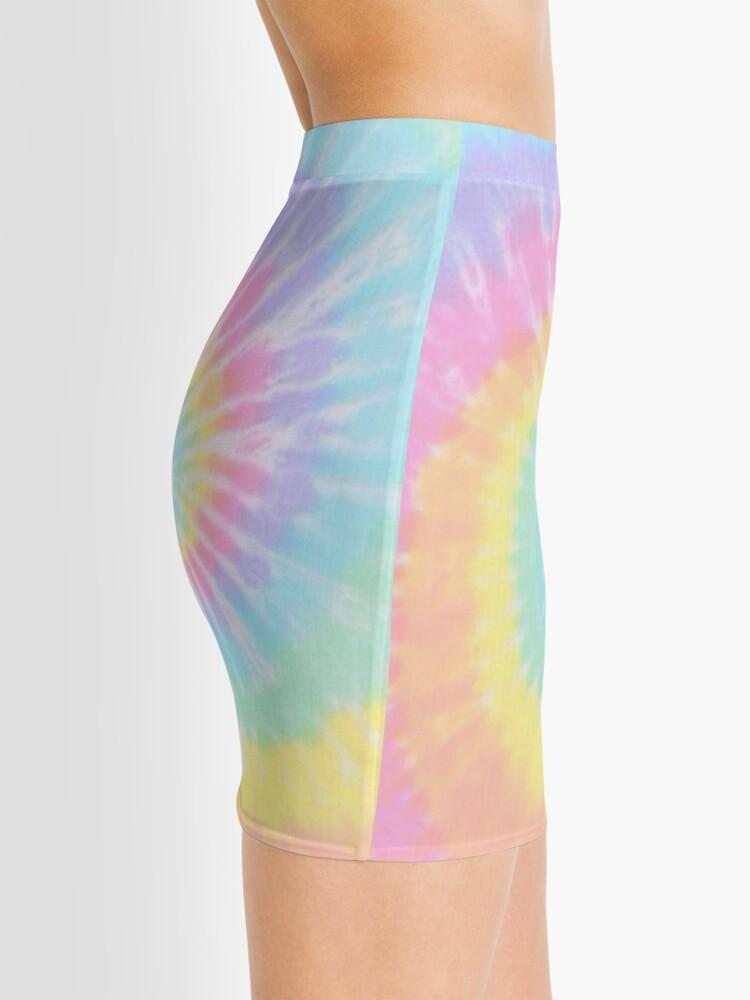 Alternate view of Rainbow tie dye Mini Skirt