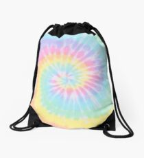 Rainbow tie dye Drawstring Bag