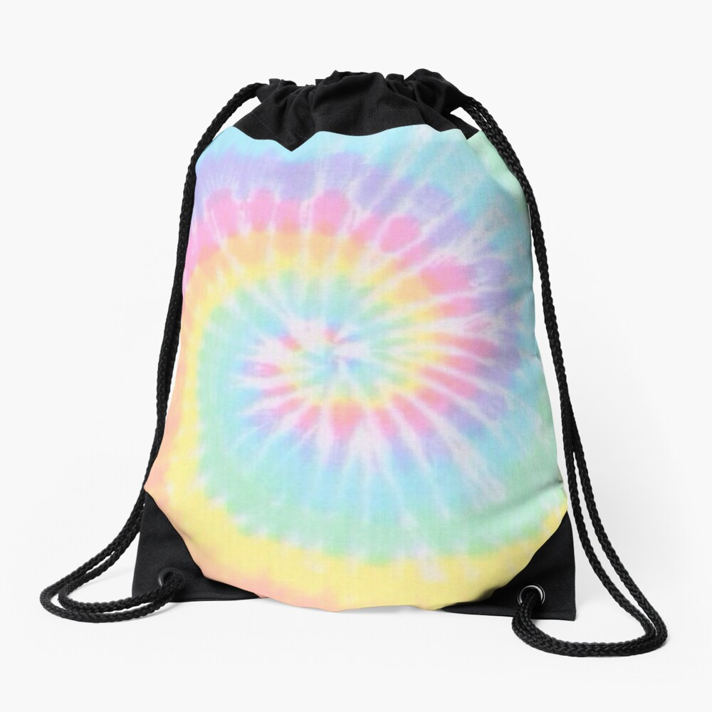 Rainbow tie dye Drawstring Bag