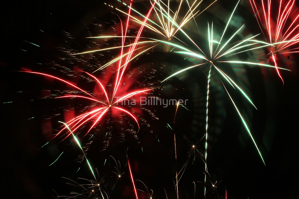 Mulitcolor Fireworks by Tina Billhymer