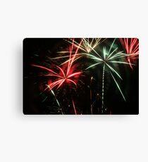 Mulitcolor Fireworks Canvas Print