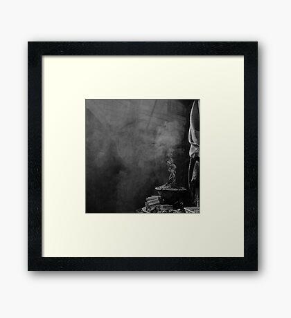 old city smoke Framed Print