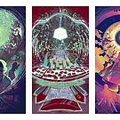 Neuromancer Triptych by Kelly Knowles