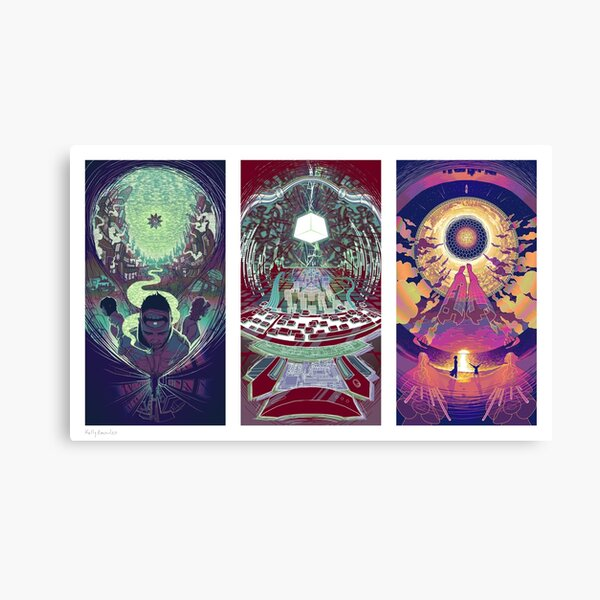 Neuromancer Triptych Canvas Print