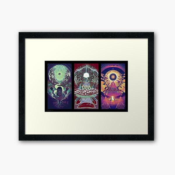 Neuromancer Triptych Framed Art Print