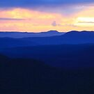 Blue Mountains sunset by Tim Coleman