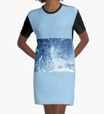 Howling Arctic Wolf Graphic T-Shirt Dress