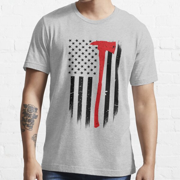 Thin Red Line Firefighter Axe Essential T-Shirt