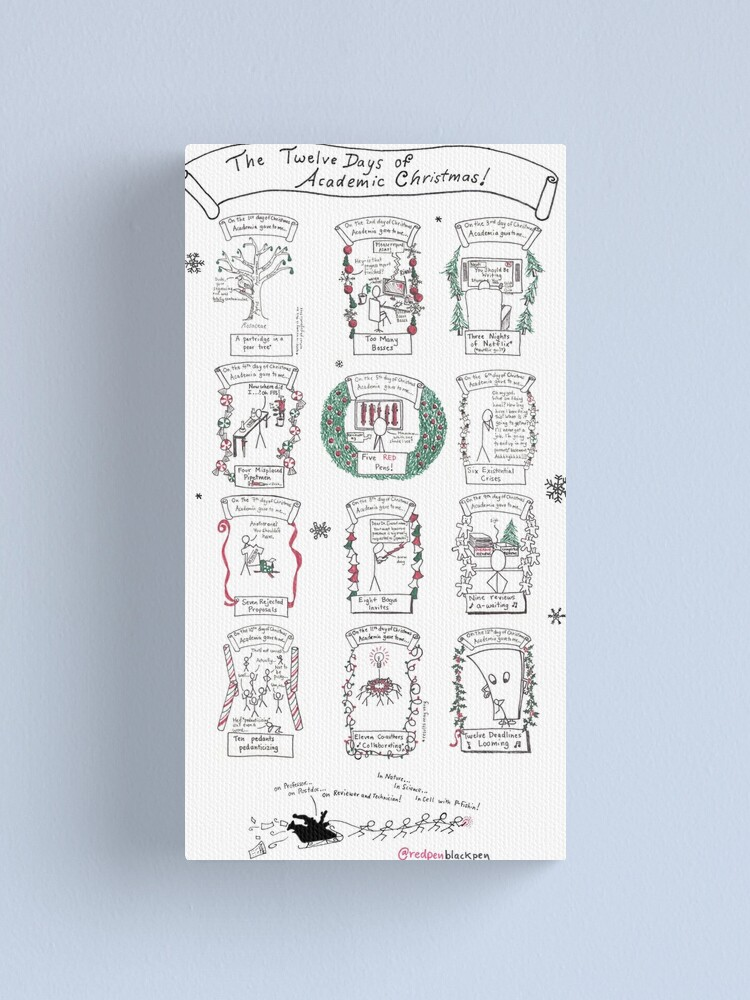 Alternate view of The Twelve Days of Academic Christmas Canvas Print