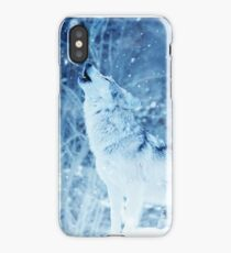 Howling Arctic Wolf iPhone Case