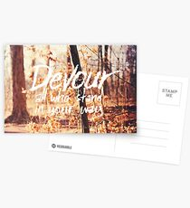 Devour All Who Stand In Your Way (Walk) Postcards