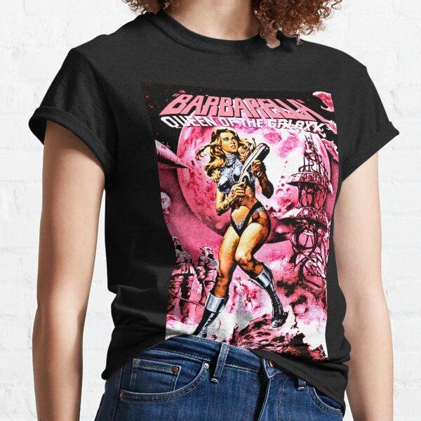 BARBARELLA QUEEN OF THE GALAXY RETRO SCI-FI Classic T-Shirt