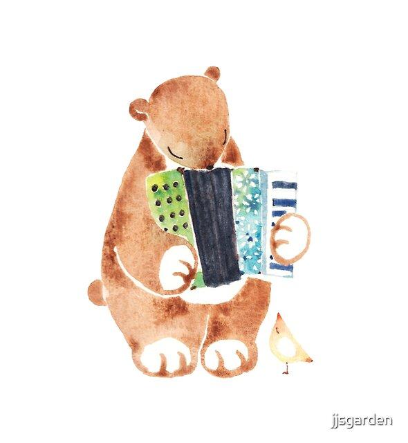 Bear the Accordionist by jjsgarden