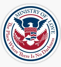 ministry of love, official seal Sticker