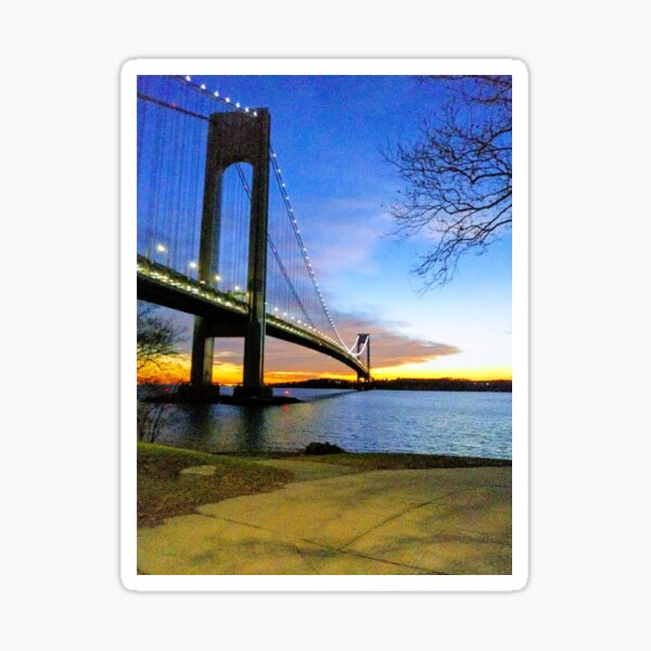 #Verrazano-Narrows #Bridge #VerrazanoNarrowsBridge #water architecture suspensionbridge travel river sky city Sticker