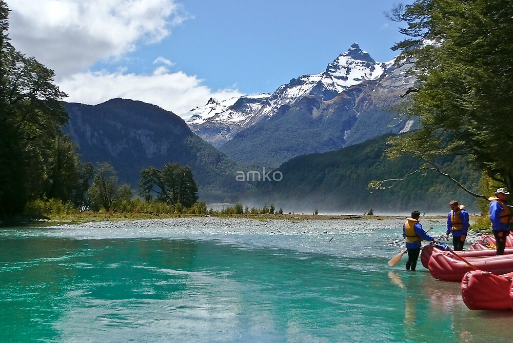 Kayaking on the Dart River (near Glenorchy NZ) by amko