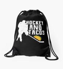Hockey and Tacos Drawstring Bag