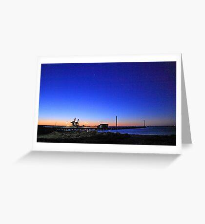 Dock At Dusk Greeting Card