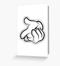 Mickey's Hands Greeting Card