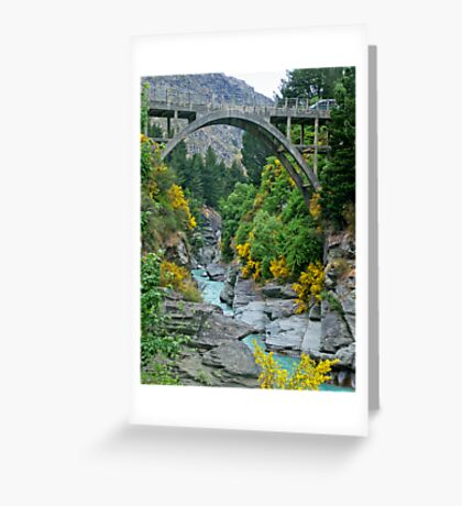 Bridge over Shotover River (NZ) Greeting Card