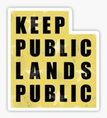 Keep Public Lands Public - Utah Sticker