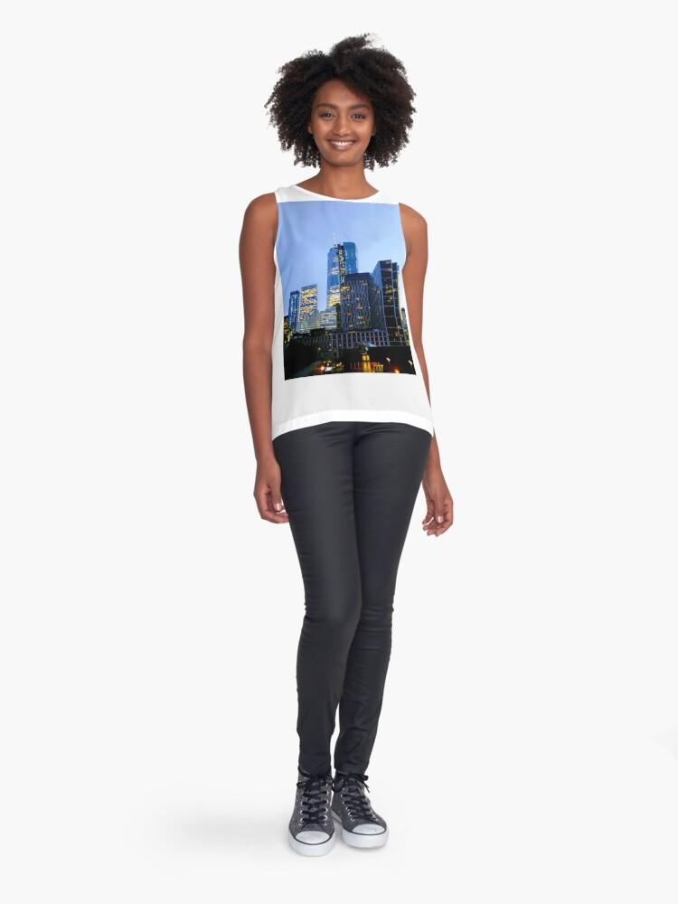 Alternate view of Lower Manhattan, New York, NY Sleeveless Top