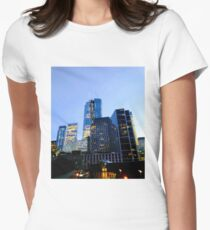 Lower Manhattan, New York, NY Women's Fitted T-Shirt