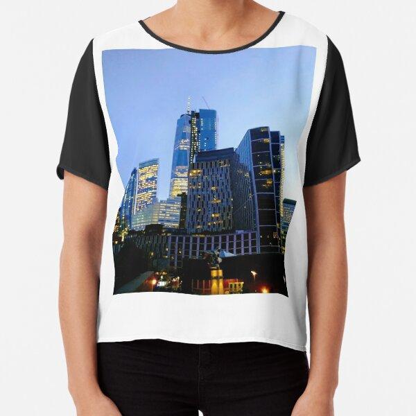 Lower Manhattan, New York, NY Chiffon Top