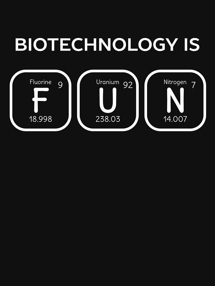 Camisetas clsicas la biotecnologa es una tabla peridica la biotecnologa es una tabla peridica divertida urtaz Images