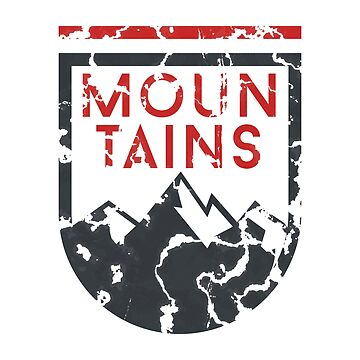 Mountains Grunge Logo by Krukowski