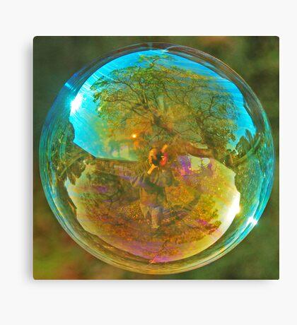 Blue Bubble Canvas Print