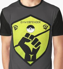 Gym Defender - Yellow Graphic T-Shirt