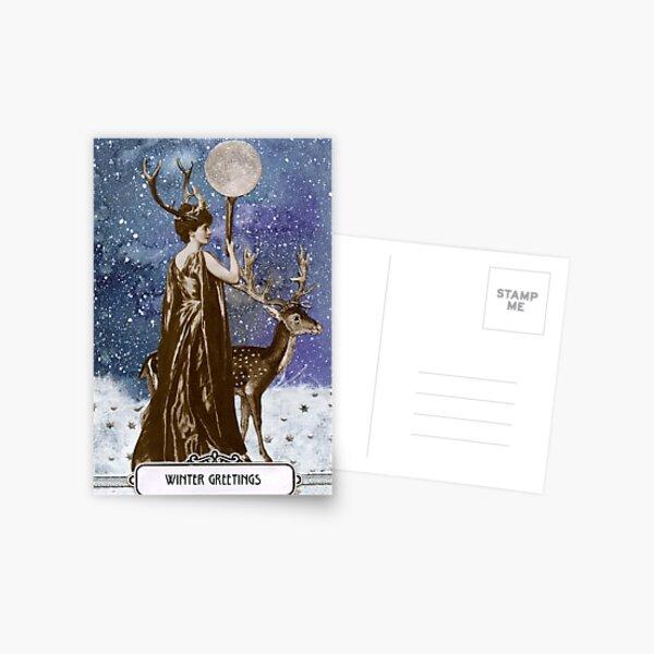 Winter Solstice Moon Goddess Postcard
