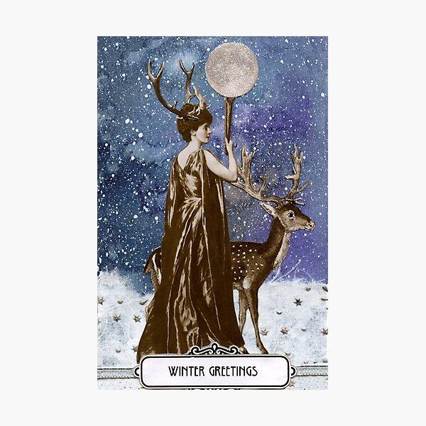 Winter Solstice Moon Goddess Photographic Print