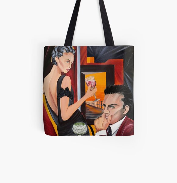 Couple Therapy All Over Print Tote Bag