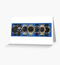 The Ultimate Watch Lineup Greeting Card