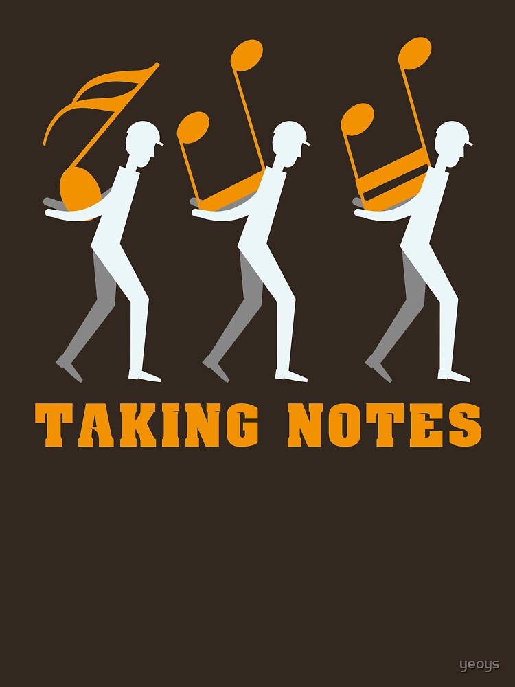 Taking Notes Funny Music Pun - Funny Music Gift von yeoys
