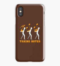 Taking Notes Funny Music Pun - Funny Music Gift iPhone Case/Skin